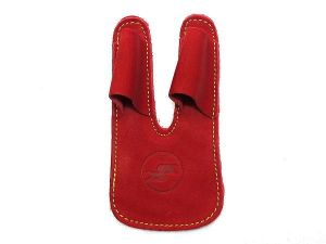 SSK Leather Finger/Palm Protection - Red