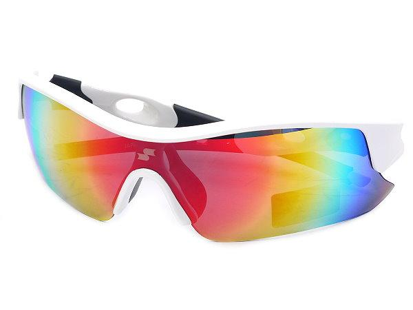 SSK Japan Series UV 400 Baseball Sunglasses - White