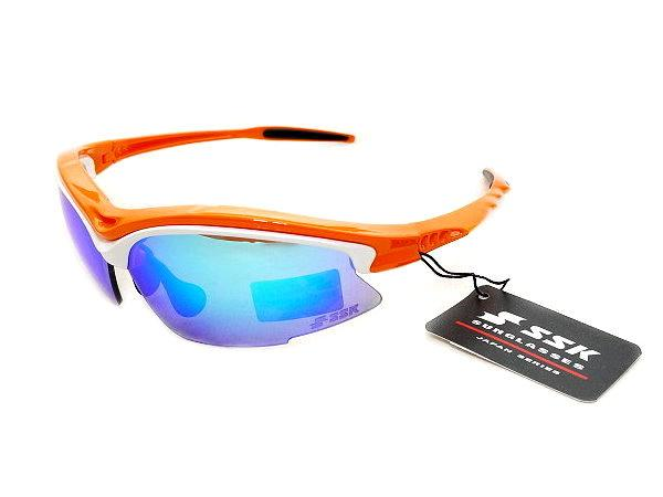 SSK UV 400 Sunglasses - Orange/White