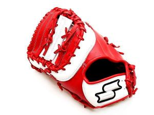 SSK Originator 13 inch LHT Red First Base Mitt + BONUS