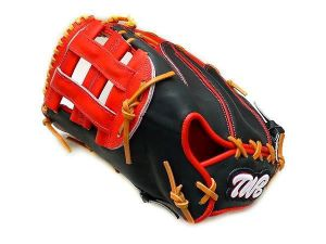 TWB Classic 12.5 inch LHT Black/Red First Base Mitt