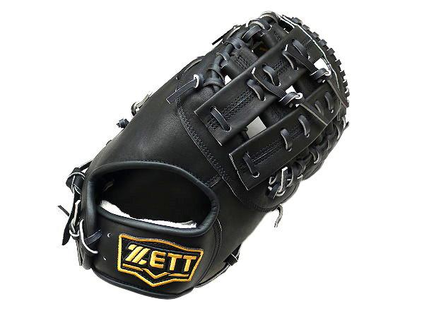 ZETT Pro Elite 13 inch Black First Base Mitt + BONUS