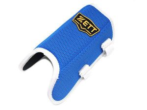 ZETT Pro Adjustable Baseball Leg Guard - Royal/White