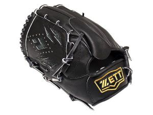 ZETT Pro Elite 12 inch LHT Black Pitcher Glove + BONUS