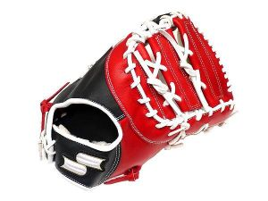 SSK Fire Heart 13 inch Red/Black First Base Mitt + BONUS