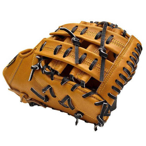ZETT Pro Elite 13 inch Brown First Base Mitt + BONUS