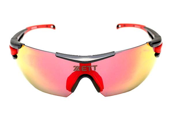 ZETT Pro Revolution UV 400 Sunglasses - Red/Black