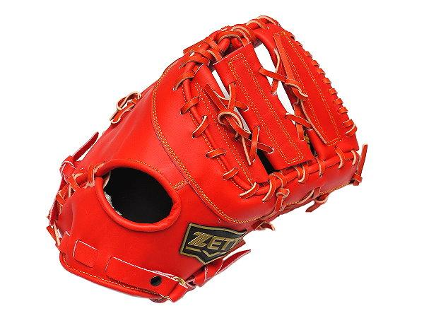 ZETT Innovation 12.5 inch Red First Base Mitt + BONUS