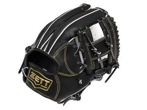 ZETT Innovation 11.75 inch Black Infielder Glove + BONUS