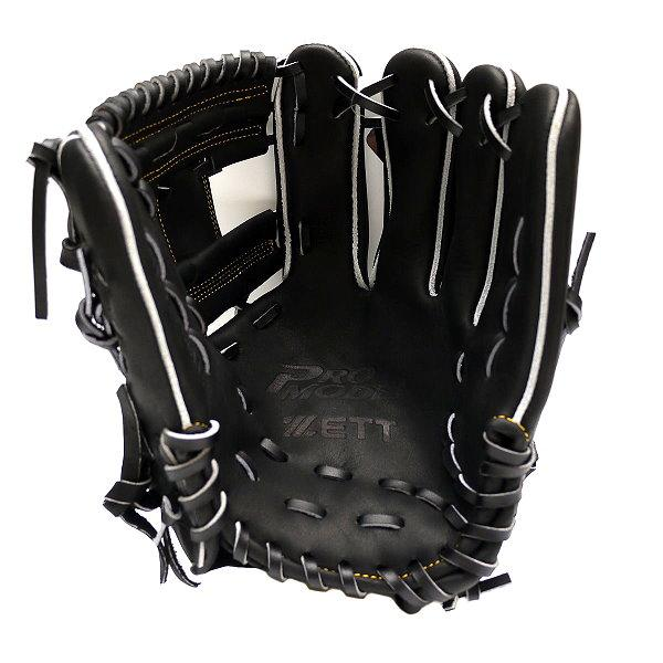 ZETT Innovation 12 inch Black Infielder Glove + BONUS