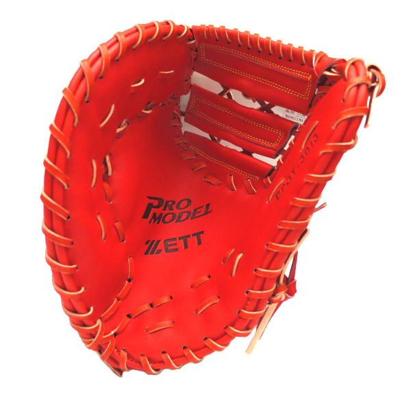 ZETT Innovation 12.5 inch LHT Red First Base Mitt + BONUS