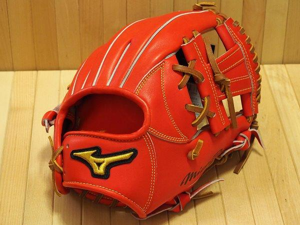 MIZUNO PRO Japan Crest Hide 11.6 inch Red Infielder Glove