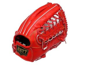 ZETT Innovation 12.75 inch Red Outfielder Glove + BONUS