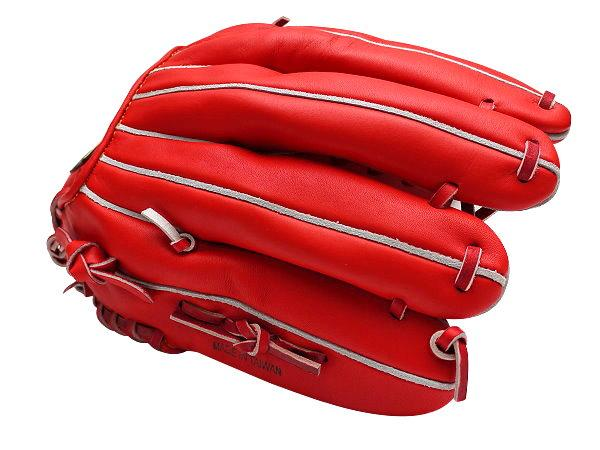 ZETT Innovation 12.75 inch LHT Red Outfielder Glove + BONUS