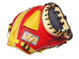 HATAKEYAMA Pro 33 inch Catcher Mitt - Red/Navy