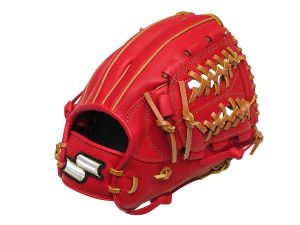 SSK Fire Heart 12 inch Red Infielder Glove + BONUS