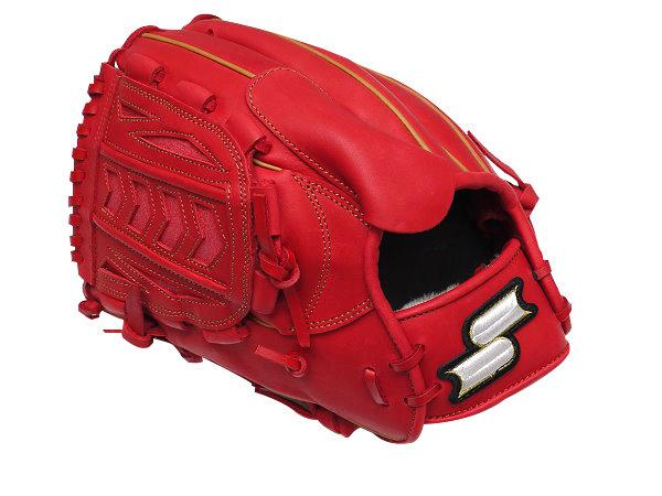 SSK Fire Heart 12 inch LHT Red Pitcher Glove + BONUS