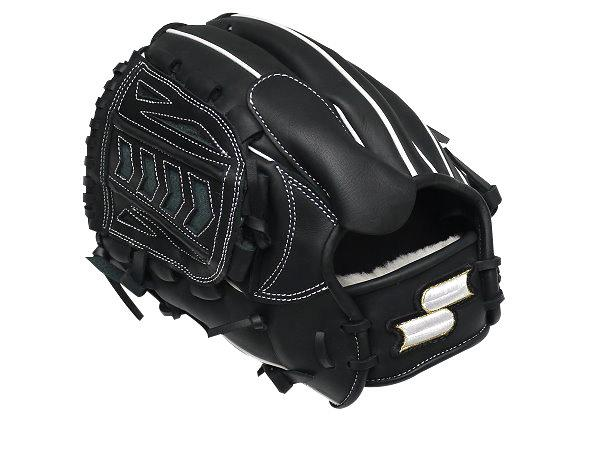 SSK Fire Heart 12 inch LHT Black Pitcher Glove + BONUS