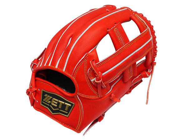 ZETT Innovation 12 inch Red Infielder Glove + BONUS