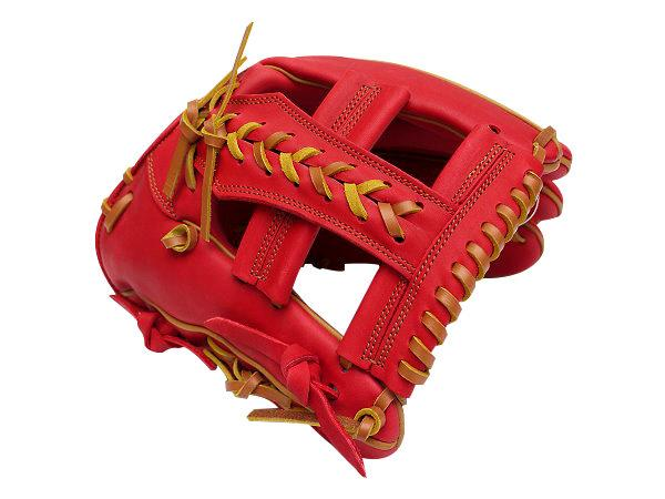 SSK Fire Heart 11.75 inch Red Infielder Glove + BONUS