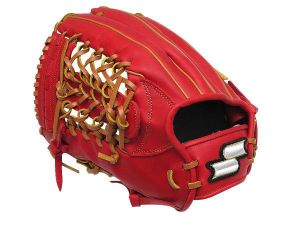 SSK Fire Heart 12.75 inch LHT Red Outfielder Glove + BONUS