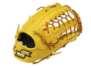 SSK Special Make Up 12.75 inch Yellow Outfielder Glove + BONUS