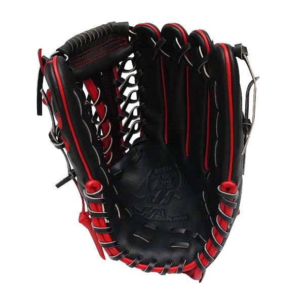 HATAKEYAMA Pro 12.75 inch Outfielder Glove - Black/Red