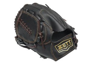 ZETT Pro Model 11.5 inch Black LHT Pitcher Glove
