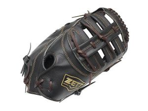 ZETT Pro Model 12.5 inch Black First Base Mitt