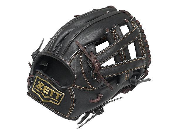 ZETT Pro Model 11.5 inch Black Infielder Glove
