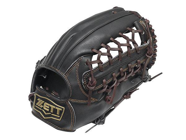 ZETT Pro Model 12.5 inch Black Outfielder Glove