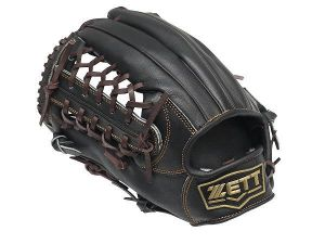 ZETT Pro Model 12.5 inch Black LHT Outfielder Glove