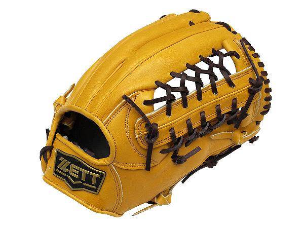 ZETT Pro Model 12.5 inch Tan Outfielder Glove