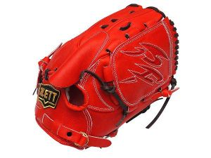 ZETT Pro Elite 12 inch Japan Red Pitcher Glove