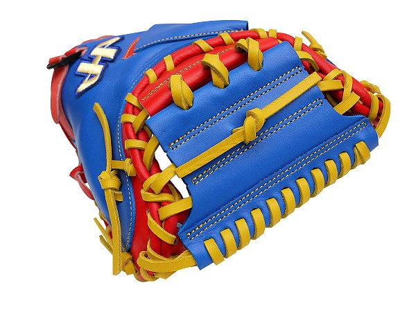 HATAKEYAMA Pro 33 inch Catcher Mitt - Royal/Red