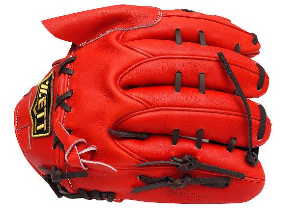 ZETT Pro Elite 12 inch Japan Red LHT Pitcher Glove