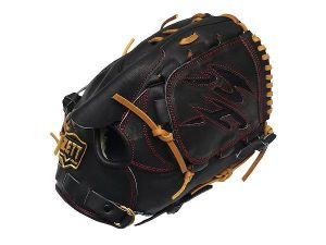 ZETT Pro Elite 12 inch Japan Black Pitcher Glove
