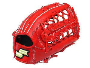 SSK Green Series 12.75 inch Red Outfielder Glove