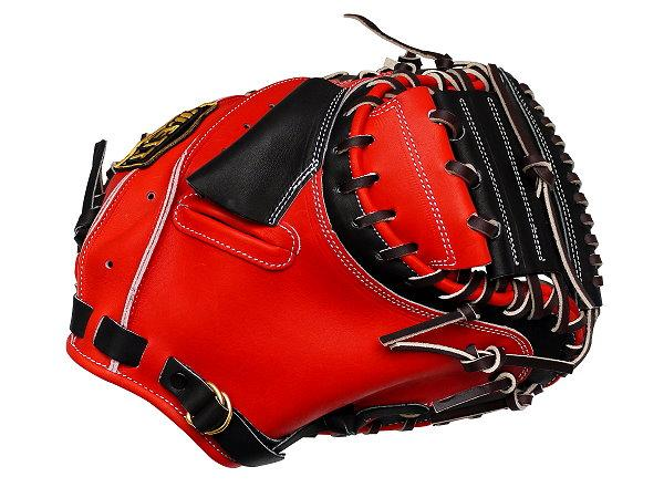ZETT Pro Elite 33 inch Catcher Mitt - Red/Black