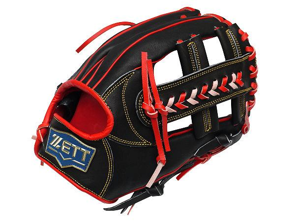 ZETT Pro Model 12 inch Wide Pocket Infielder Glove - Black