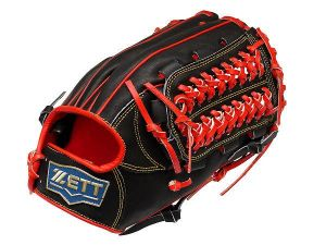 ZETT Pro Model 12.5 inch Outfielder Glove - Black