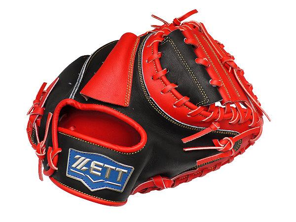 ZETT Pro Model 33 inch Black Red Catcher Mitt