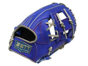 ZETT Pro Model 12 inch Infielder Glove - Royal