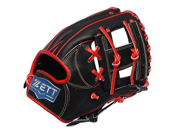 ZETT Pro Model 12 inch Infielder Glove - Black
